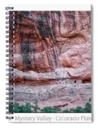 Ancient Ruins Mystery Valley Colorado Plateau Arizona 03 Text Spiral Notebook