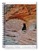Ancient Ruins Mystery Valley Colorado Plateau Arizona 05 Text Spiral Notebook