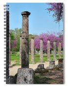 Ancient Ruins Tree By Columns Spiral Notebook