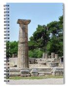 Ancient Ruins Wide Columns Spiral Notebook