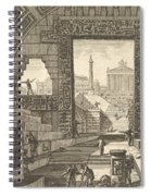 Ancient School Built According To The Egyptian And Greek Manners Spiral Notebook