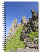 Ancient Steps Leading To Celtic Monastery, Skellig Michael, County Kerry, Ireland Spiral Notebook