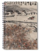 Ancient Town River Paintingancient Town River Painting Spiral Notebook