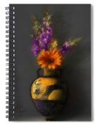 Ancient Vase And Flowers Spiral Notebook