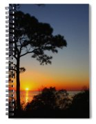 Anclote Gulf Sunset Spiral Notebook