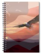 And The Eagle Flies Spiral Notebook