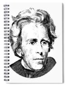 Andrew Jackson Red White And Blue Spiral Notebook