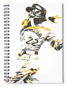 Andrew Mccutchen Pittsburgh Pirates Pixel Art 1 Spiral Notebook
