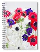 Anemone Flowers  Spiral Notebook