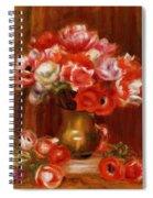 Anemones 1909 Spiral Notebook