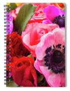 Anemones And Roses Spiral Notebook