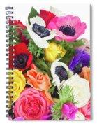 Bouquet Of Anemones Spiral Notebook
