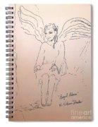 Angel Above Spiral Notebook