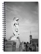 Angel And Church In Calvary Cemetery New York City Spiral Notebook
