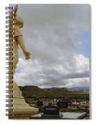 Angel And Clouds Spiral Notebook