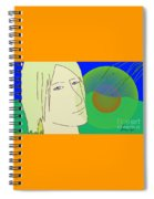 Angel And The Light Spiral Notebook
