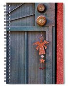 Angel At The Door Spiral Notebook