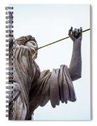 Angel Blowing A Gilt Trumpet Spiral Notebook