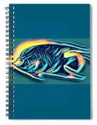 Angel Fish In Turquoise Tones Spiral Notebook