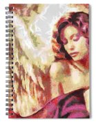 Angel Fragmented Spiral Notebook