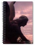 Angel Guardian Art - Inspirational Angel Art - Guardian Angel Silhouette Spiral Notebook