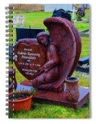 Angel Guarding Grave Hvalsneskirkja Graveyard Iceland Spiral Notebook