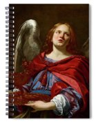 Angel Holding The Vessel And Towel For Washing The Hands Of Pontius Pilate Spiral Notebook