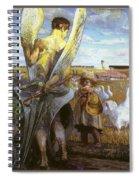 angel i will follow you Jacek Malczewski Spiral Notebook