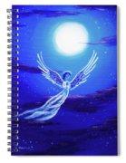 Angel In Blue Starlight Spiral Notebook