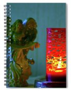 Angel In Candle Light Spiral Notebook