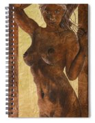 Angel In Gold Spiral Notebook