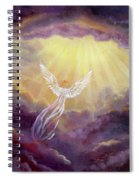 Angel In Mauve Clouds Spiral Notebook