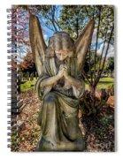 Angel In Prayer Spiral Notebook