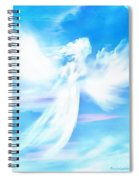 Angel In Thick Paint Spiral Notebook
