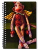 Angel Made Of Sockies Spiral Notebook