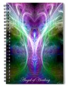 Angel Of Healing Spiral Notebook