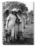 Angel On The Ground At Calvary Cemetery In Nyc New York Spiral Notebook