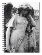 Angel On The Ground At Cavalry Cemetery, Nyc, Ny Spiral Notebook