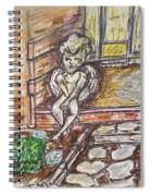 Angel Protecting Home Spiral Notebook