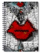 Angel Wings Brings Love And Peace Spiral Notebook