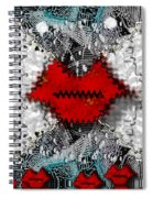Angel Wings Comes In Love Spiral Notebook