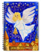 Angel With Christmas Bell Spiral Notebook