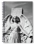Angel With Outspread Wings And Other Angels In The Background Spiral Notebook