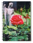 Angel With Roses 2 Spiral Notebook
