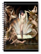 Angels Surround Cupid  Spiral Notebook