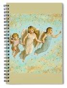 Angels Three Children Vintage Spiral Notebook