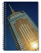 Angled View Of Central Plaza At Sunset Spiral Notebook