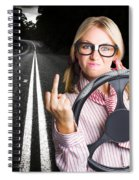 Angry Business Woman Expressing Road Rage Spiral Notebook
