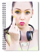 Angry Music Spiral Notebook