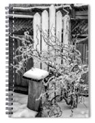 Angry Plant Bw Spiral Notebook